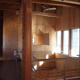 両親が建てた家をリノベして住み継ぐ|Sumire house (ワークスペース・吹き抜け)