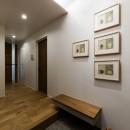 現代アートが生きるアーバンペントハウスの写真 玄関1