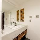 自然体でつくるかっこいい家の写真 洗面