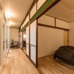 築48年戸建リノベ|既存を活かした金沢の住まい (のびやかに広がる縁側)