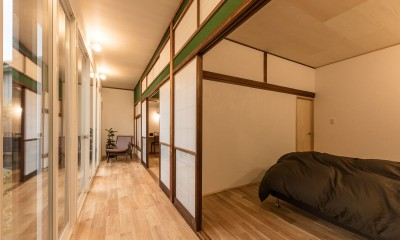 のびやかに広がる縁側 築48年戸建リノベ 既存を活かした金沢の住まい