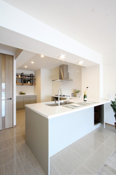 広々とした高級感たっぷりの賃貸住宅 (キッチン)