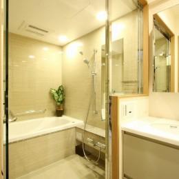 広々とした高級感たっぷりの賃貸住宅 (バスルーム)