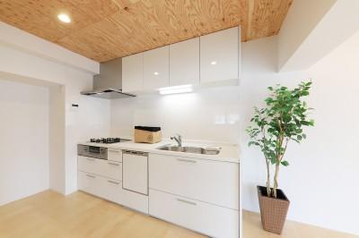 001「木の暖かみにあふれた優しい家」キッチン (中古マンション・フルリノベーション_001「木の暖かみにあふれた優しい家」)