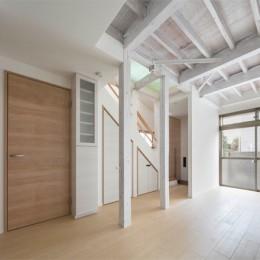 光と風のリノベーション住宅 (リノベーションしたリビング)