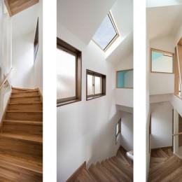 光と風のリノベーション住宅 (光あふれる階段)