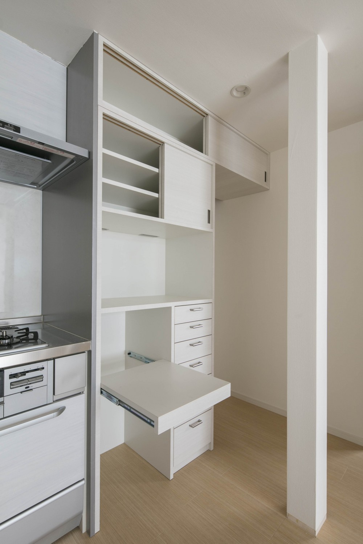 光と風のリノベーション住宅 (キッチンのオリジナル家具)