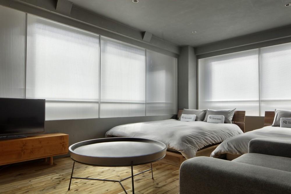 目白通りのアパートメントホテル Ⅱ (ベッドルーム)