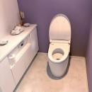 照明にこだわりのある素敵なお家の写真 トイレ