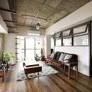 インテリックス空間設計の住宅事例「愛猫が駆け、風が通り抜ける、広々と心地良いインダストリアルな空間。」