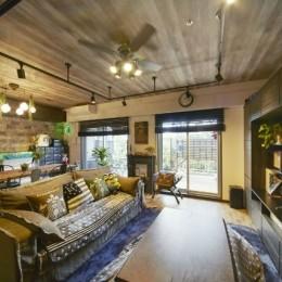 お気に入りの雑貨に囲まれたニューヨークカフェスタイルのお家 (リビングダイニング)