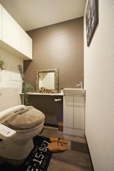トイレ (お気に入りの雑貨に囲まれたニューヨークカフェスタイルのお家)