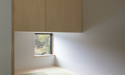 2階プライベートスペース 和室|鎌倉の店舗併用住宅OUCHI-39