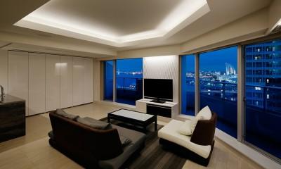 夜景を見渡せるホテルライクな自宅兼オフィス