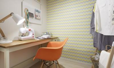 多彩なパターンを各部屋に使用したモデルルーム