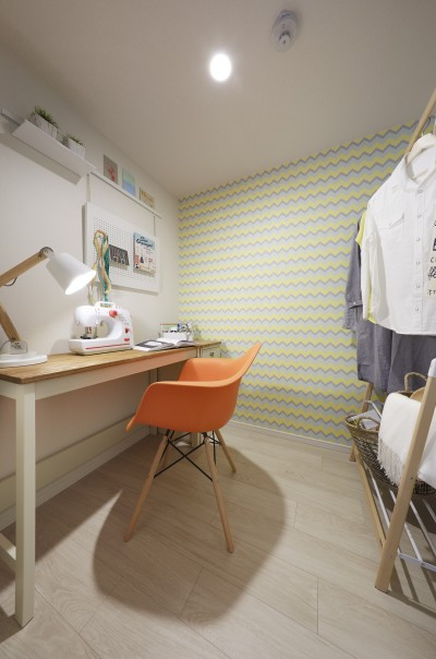 居室 (多彩なパターンを各部屋に使用したモデルルーム)