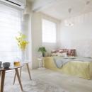 壁紙 WhO(フー)の住宅事例「多彩なパターンを各部屋に使用したモデルルーム」