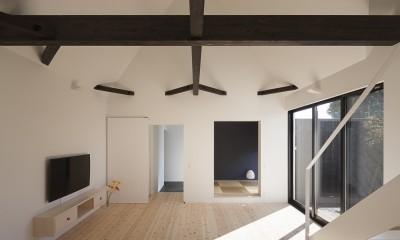 平屋デザインの家 OUCHI-41 (リビング)