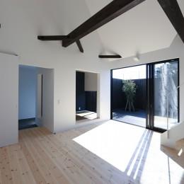 平屋デザインの家 OUCHI-41 (リビングダイニング)