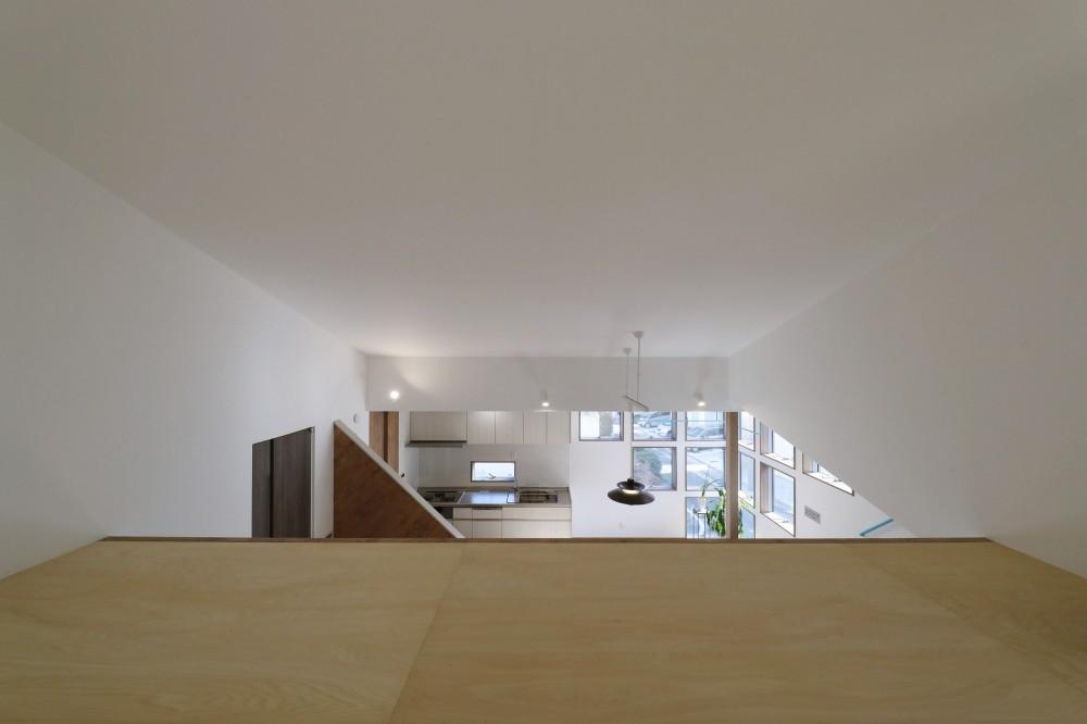 斬新なアイデアいっぱいの家。とことん色にこだわりました。 (リビング内ロフト)