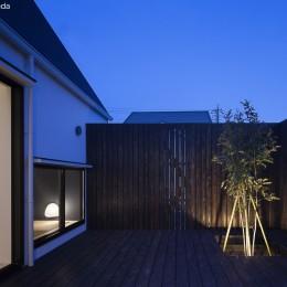 平屋デザインの家 OUCHI-41 (中庭)