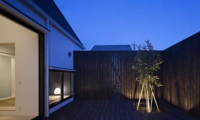 中庭 平屋デザインの家 OUCHI-41