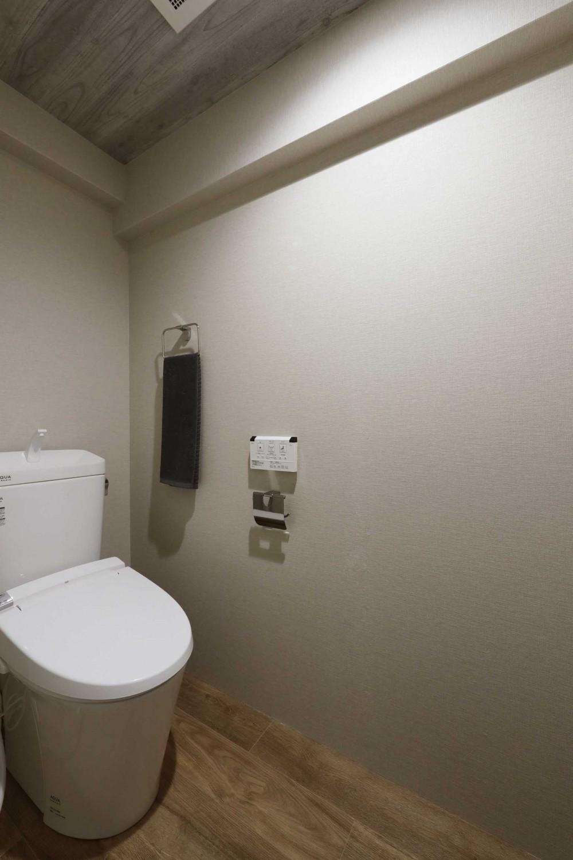両面バルコニーの明るい土間と暮らすリノベーション (トイレ)