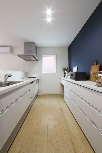 エアコン1台で家じゅうぽかぽか♪デザイン性の高い高気密・高断熱の家。 (キッチン)