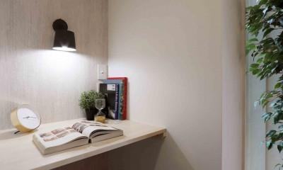 エアコン1台で家じゅう快適。デザイン性の高い高気密・高断熱の家。 (スタディスペース)
