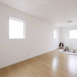 エアコン1台で家じゅう快適。デザイン性の高い高気密・高断熱の家。 (子供部屋)