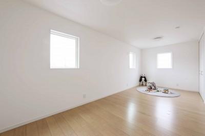 エアコン1台で家じゅうぽかぽか♪デザイン性の高い高気密・高断熱の家。 (子供部屋)