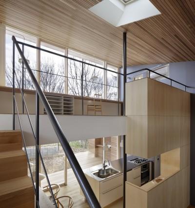 階段から/写真:繁田諭 (G邸)