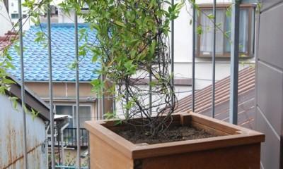 木造耐火構造の町屋~狭小地3階建ての住まい~ (3階建てのバルコニー)
