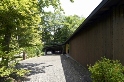 軽井沢の家 (エントランス廻り02)