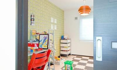 子供部屋|シックなイタリアンモダンの配色