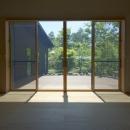 軽井沢の家の写真 家族室の開口部