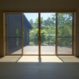 軽井沢の家 (家族室の開口部)