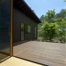 軽井沢の家の写真 デッキテラス