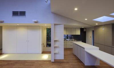 東玉川の家 (ダイニングキッチン)