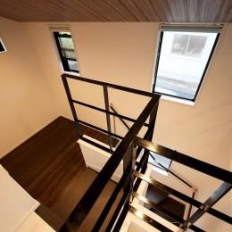 増築して完全分離型二世帯住宅に (階段・吹き抜け)