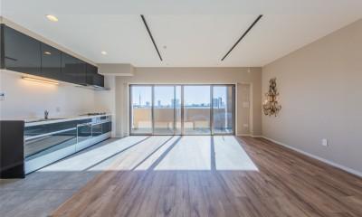 陽当り、眺望の良い最上階のお部屋をリノベーション! ~ I様邸 ~ (リビング・ダイニング・キッチン)