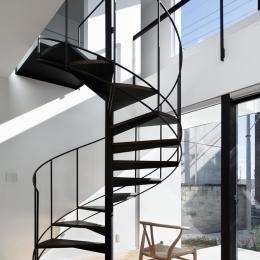 026高崎Mさんの家 (らせん階段)