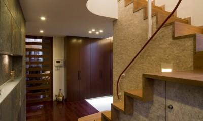 上尾の家 (玄関)