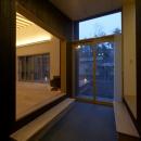 軽井沢の家の写真 土間スペース(夜景)