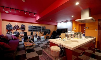 音楽を楽しむための部屋 (キッチン)