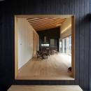 軽井沢の家の写真 母屋スペース入口