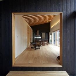 軽井沢の家 (母屋スペース入口)
