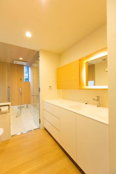 洗面脱衣室 (南砂の住宅)