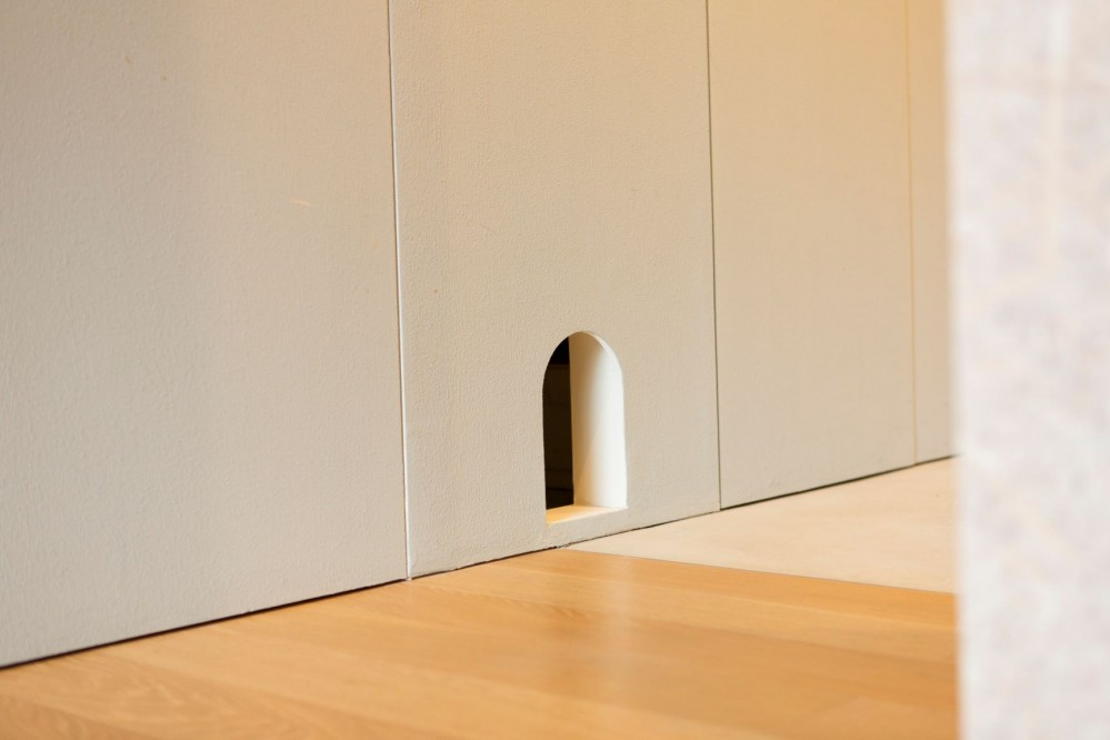 南砂の住宅 (猫開口)