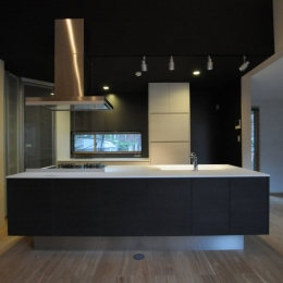軽井沢の家 (オープンキッチン)